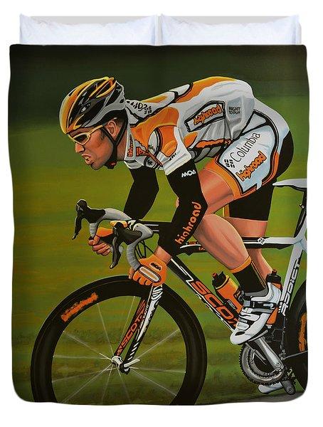 Mark Cavendish Duvet Cover by Paul Meijering