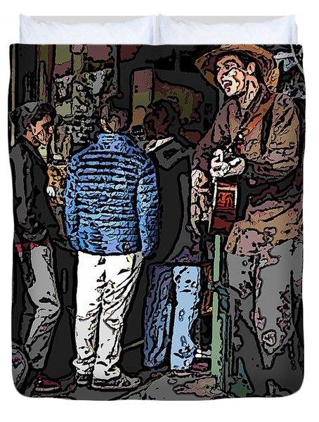 Market Busker 7 Duvet Cover by Tim Allen