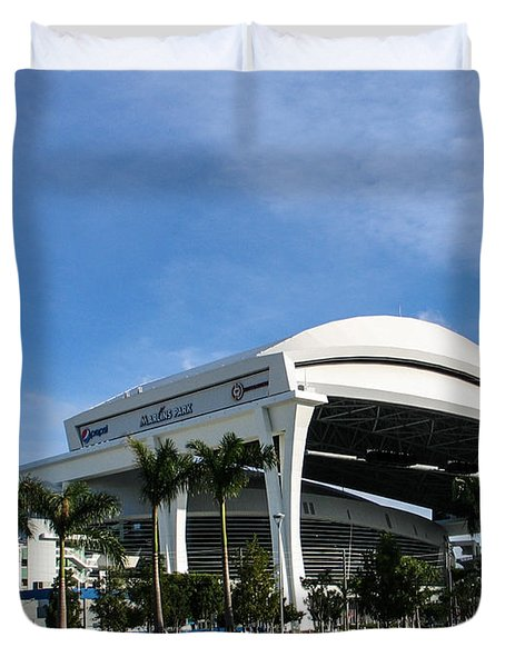 Marlins Park Stadium Miami 16 Duvet Cover by Rene Triay Photography