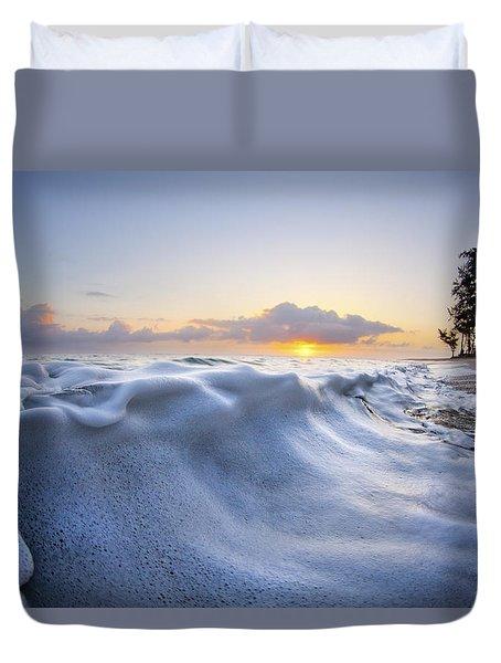 Marshmallow Tide Duvet Cover by Sean Davey