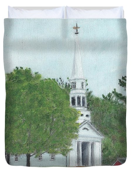 Martha Mary Chapel Duvet Cover by Cliff Wilson
