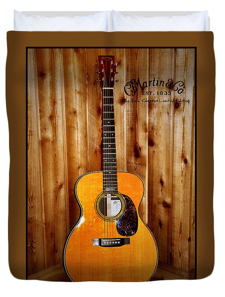 Martin Guitar - The Eric Clapton Limited Edition Duvet Cover by Bill Cannon