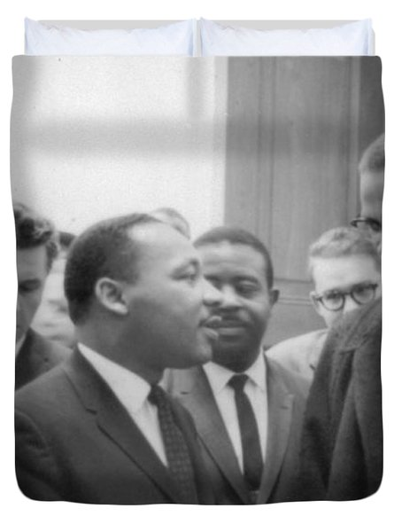 Martin Luther King Jnr 1929-1968 And Malcolm X Malcolm Little - 1925-1965 Duvet Cover by Marion S Trikoskor