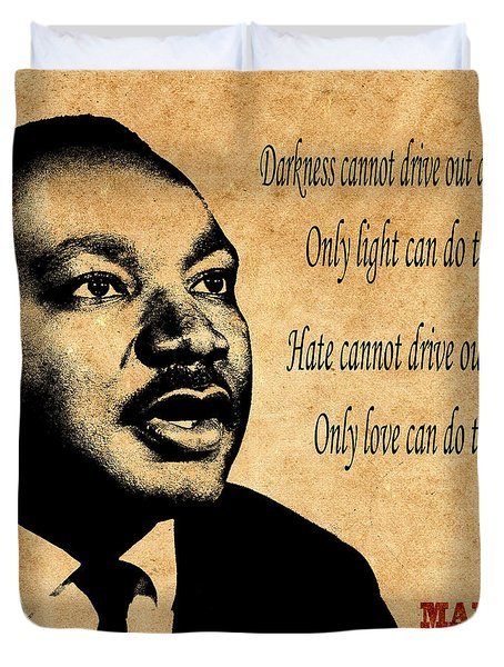 Martin Luther King Jr 1 Duvet Cover by Andrew Fare