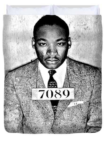 Martin Luther King Mugshot Duvet Cover by Some Cracker