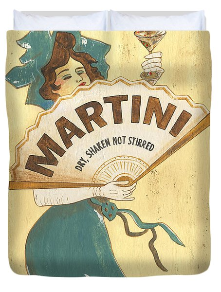 Martini Dry Duvet Cover by Debbie DeWitt