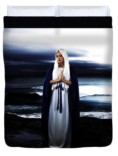 Mary By The Sea Duvet Cover by Cinema Photography