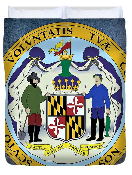 Maryland State Seal Duvet Cover by Movie Poster Prints