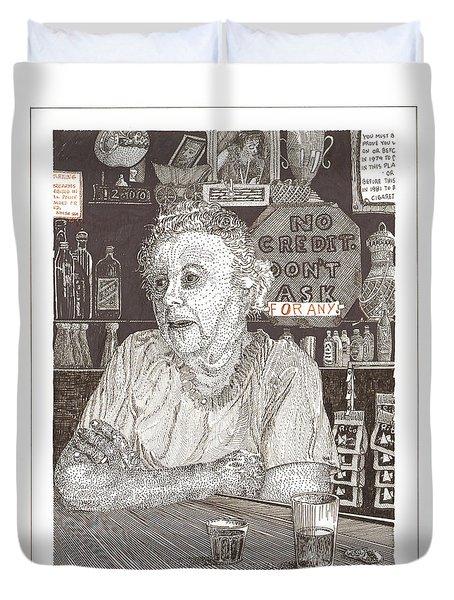 Marys Bar Cerrillos New Mexico Duvet Cover by Jack Pumphrey