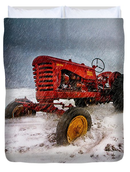 Massey Harris Mustang Duvet Cover by Bob Orsillo