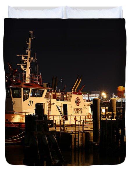 Massport Fire Rescue 31 Duvet Cover by Juergen Roth
