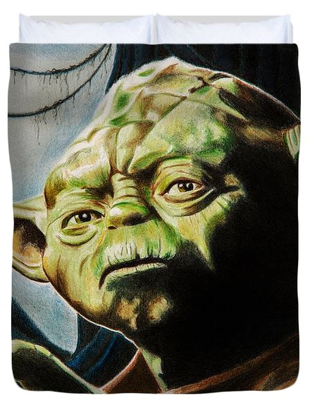 Master Yoda Duvet Cover by Brian Broadway