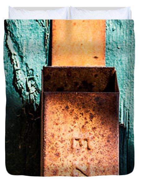 Match Box Duvet Cover by  Onyonet  Photo Studios