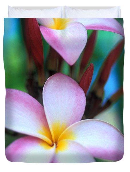 Maui Plumeria Duvet Cover by Kathy Yates
