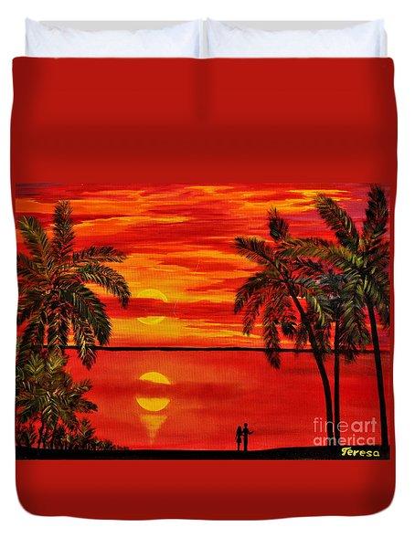 Maui Sunset Duvet Cover by Teresa Wegrzyn
