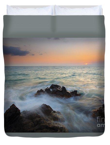 Maui Tidal Swirl Duvet Cover by Mike  Dawson