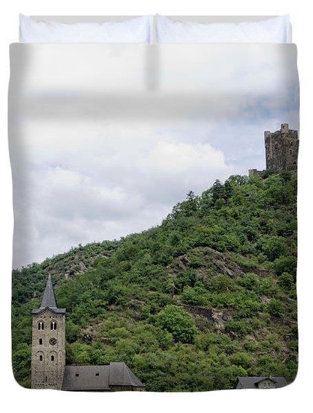Maus Castle In Germany Duvet Cover by Oscar Gutierrez