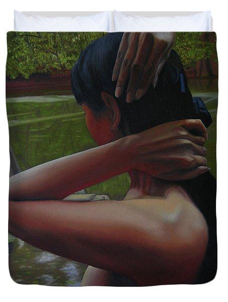May Morning Arkansas River 6 Duvet Cover by Thu Nguyen