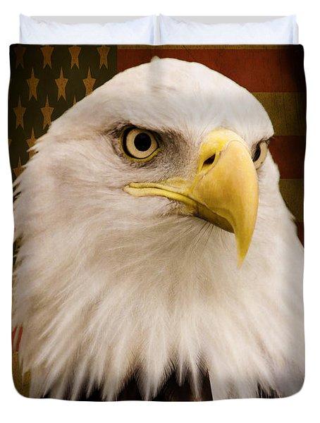 May Your Heart Soar Like An Eagle Duvet Cover by Jordan Blackstone