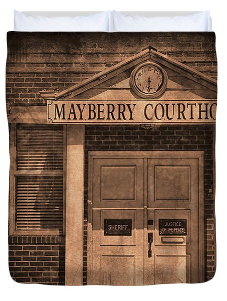 Mayberry Courthouse Duvet Cover by David Arment