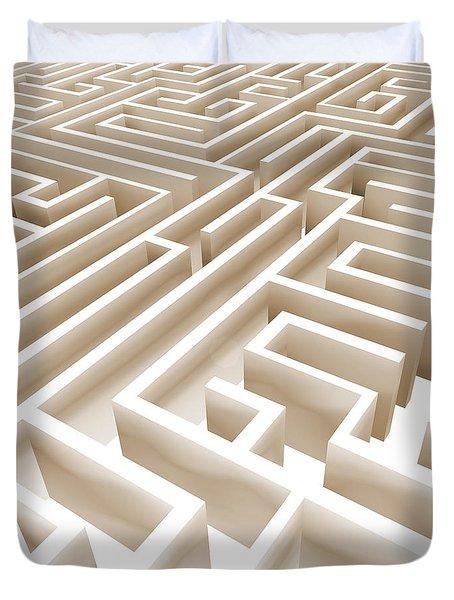 Maze Duvet Cover by Stefano Senise