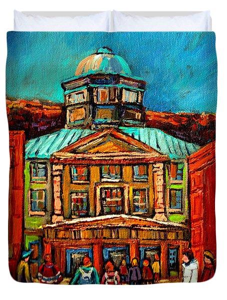 Mcgill Gates Montreal Duvet Cover by Carole Spandau