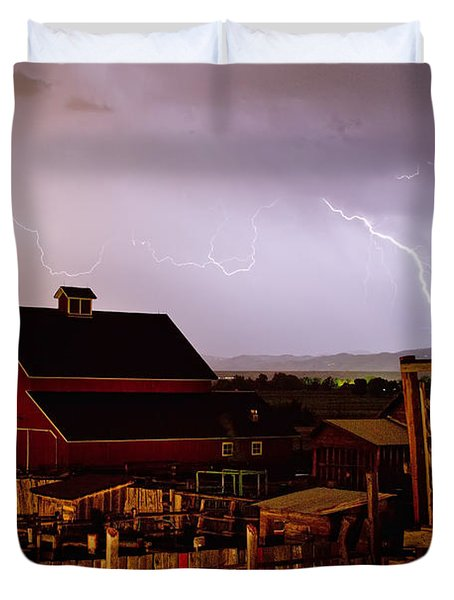 McIntosh Farm Lightning Thunderstorm Duvet Cover by James BO  Insogna