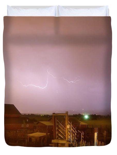 Mcintosh Farm Lightning Thunderstorm View Duvet Cover by James BO  Insogna