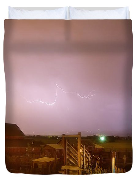 McIntosh Farm Lightning Thunderstorm View Duvet Cover by James BO  Insogna