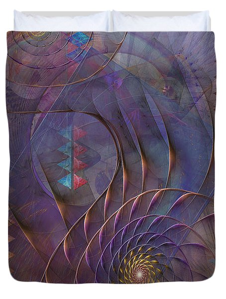 Meandering Acquiescence Duvet Cover by John Robert Beck