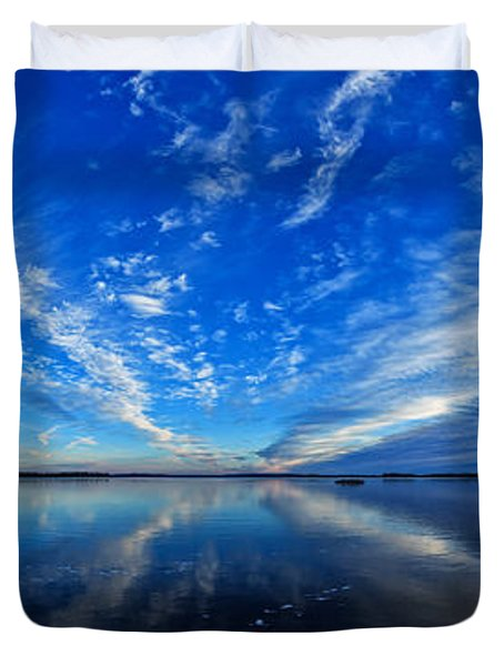 Meddybemps Blues 2 Panorama Duvet Cover by Bill Caldwell -        ABeautifulSky Photography