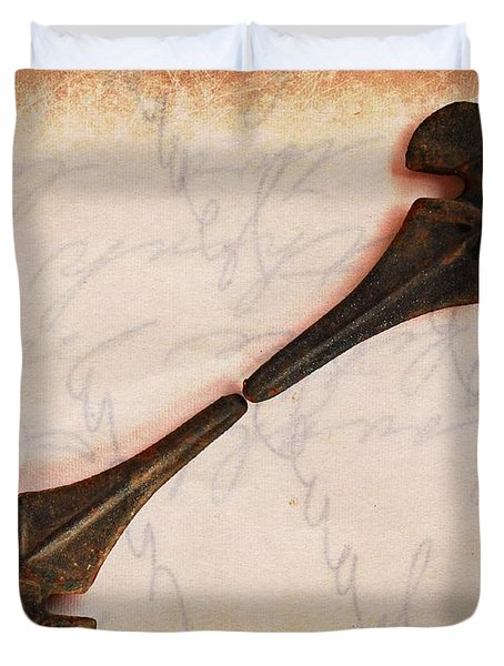 Fleur-de-Lis Duvet Cover by Clare Bevan