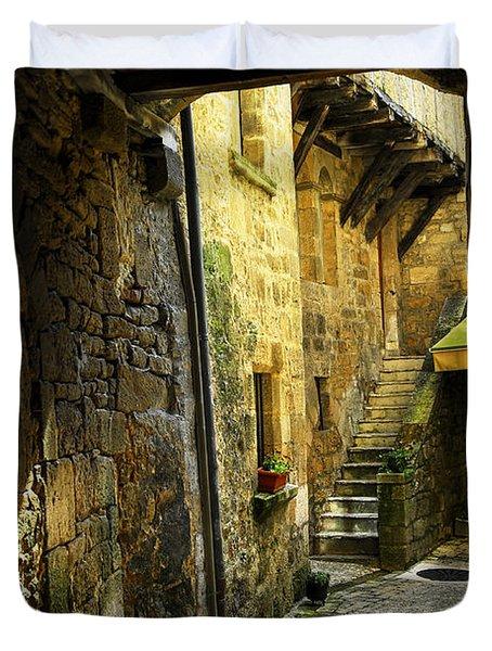 Medieval courtyard Duvet Cover by Elena Elisseeva