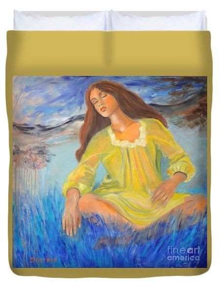 Meditation Duvet Cover by Dagmar Helbig