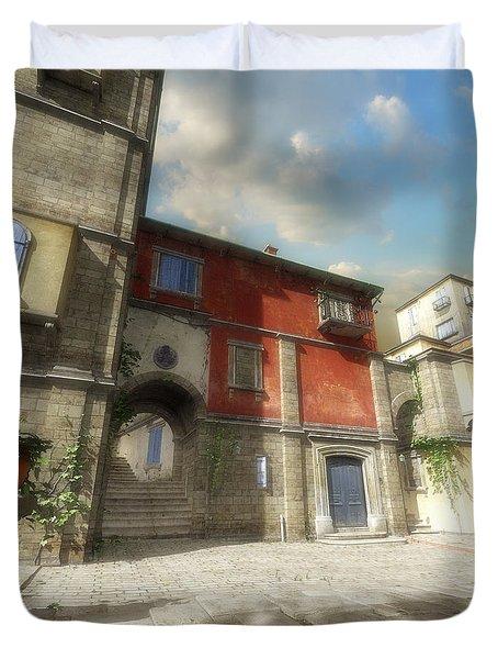 Mediterranean Street Duvet Cover by Cynthia Decker