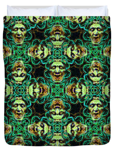 Medusa Abstract 20130131p38 Duvet Cover by Wingsdomain Art and Photography