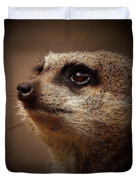 Meerkat 6 Duvet Cover by Ernie Echols