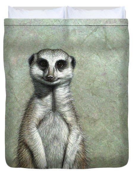 Meerkat Duvet Cover by James W Johnson