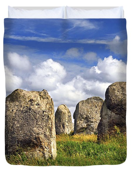 Megalithic monuments in Brittany Duvet Cover by Elena Elisseeva