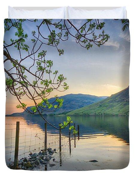 Melancholy Of Sunset Duvet Cover by Evelina Kremsdorf