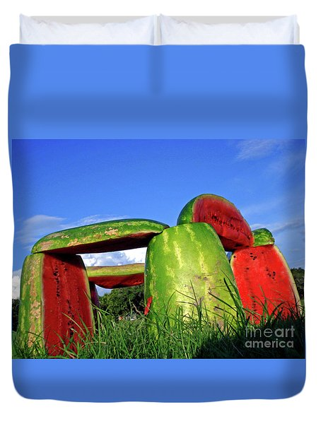 Melonhenge Duvet Cover by Joe Jake Pratt