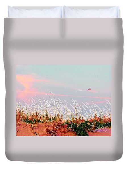 Memorial Day By The Sea Duvet Cover by Susan Carella