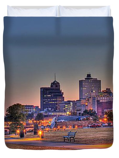 Cityscape - Skyline - Memphis At Dawn Duvet Cover by Barry Jones