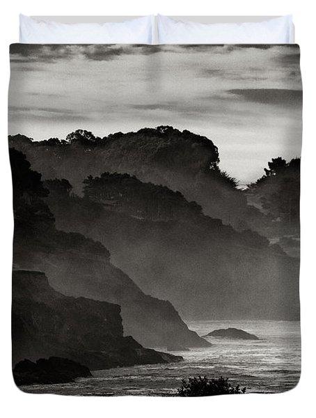 Mendocino Coastline Duvet Cover by Robert Woodward