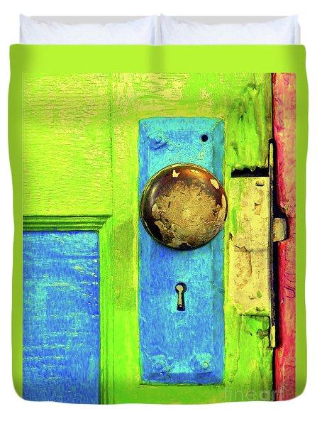 MERCADO DOOR Duvet Cover by Joe Jake Pratt