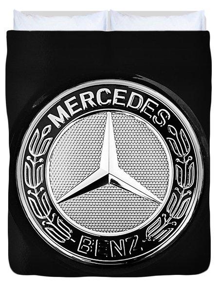 Mercedes-benz 6.3 Gullwing Emblem Duvet Cover by Jill Reger