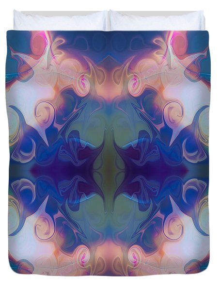 Merging Fantasies Abstract Pattern Artwork By Omaste Witkowski Duvet Cover by Omaste Witkowski