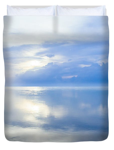 Merging Horizons Duvet Cover by Nila Newsom