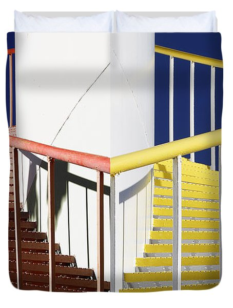 Merging Steps Duvet Cover by Robert Woodward