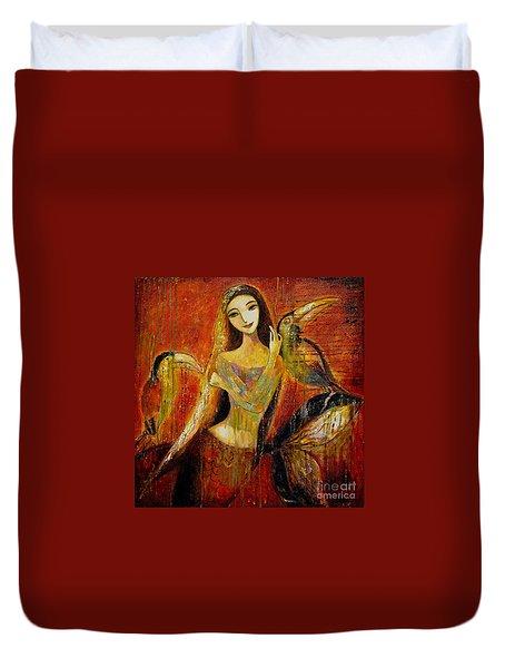 Mermaid Bride Duvet Cover by Shijun Munns